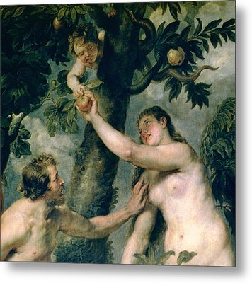 Adam And Eve Metal Print by Rubens