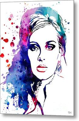 Adele Metal Print by Luke and Slavi