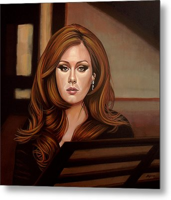 Adele Metal Print by Paul Meijering