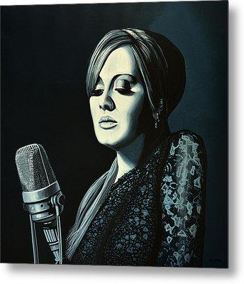 Adele Skyfall Painting Metal Print by Paul Meijering