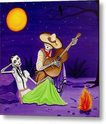 Adelita Y Juan Metal Print by Evangelina Portillo
