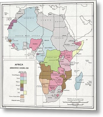 Administrative Divisions Of Africa Metal Print by Library Of Congress, Geography And Map Division