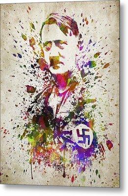 Adolf Hitler In Color Metal Print by Aged Pixel