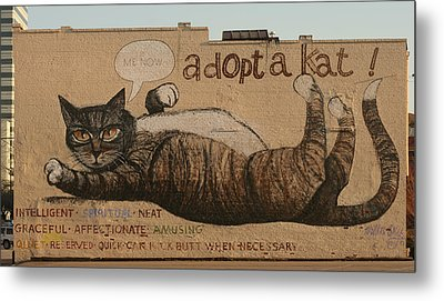 Adopt A Kat Or Me Now Metal Print by Blue Sky