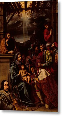 Adoration Of The Magi Metal Print by Unknown