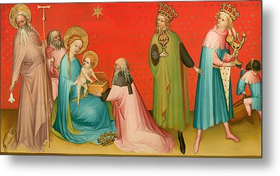 Adoration Of The Magi With Saint Anthony Metal Print by Mountain Dreams
