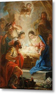 Adoration Of The Shepherds Metal Print by Mariano Salvador de Maella