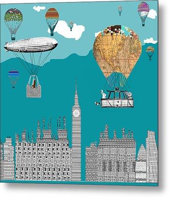 Adventure Days London Metal Print by Bri B