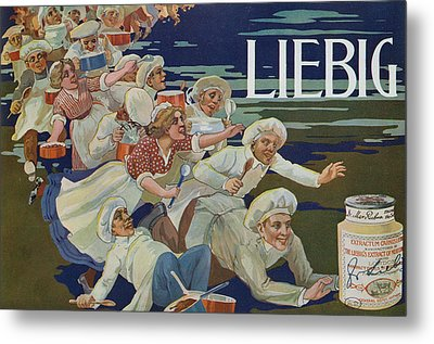 Advertisement For Extractum Carnis Liebig Metal Print by English School