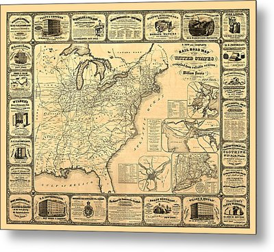 Advertising Map Metal Print by Gary Grayson