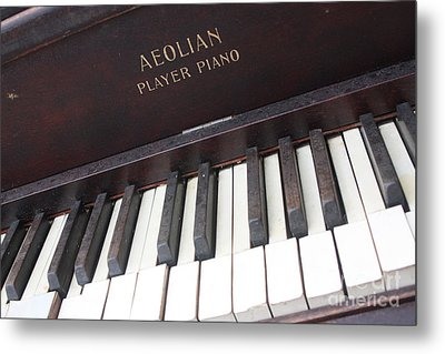 Aeolian Player Piano-3484 Metal Print by Gary Gingrich Galleries