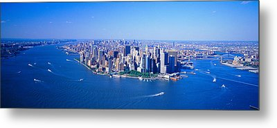 Aerial Lower Manhattan New York City Ny Metal Print by Panoramic Images