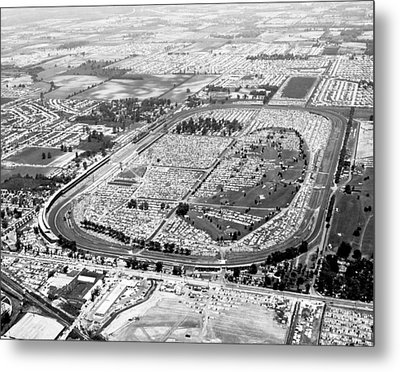 Aerial Of Indy 500 Metal Print by Underwood Archives
