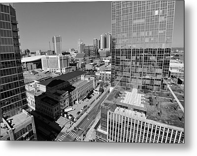 Aerial Photography Downtown Nashville Metal Print by Dan Sproul