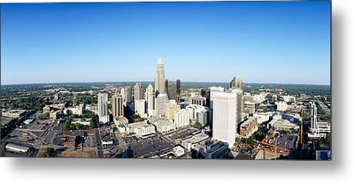 Aerial View Of A City, Charlotte Metal Print by Panoramic Images