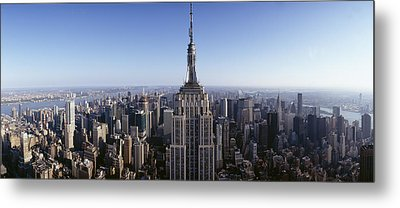 Aerial View Of A Cityscape, Empire Metal Print by Panoramic Images