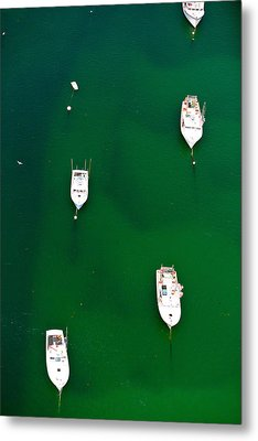 Aerial View Of Boats In The Sea, Cape Metal Print by Panoramic Images