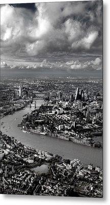 Aerial View Of London 4 Metal Print by Mark Rogan