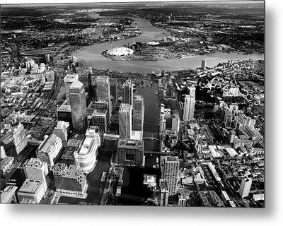 Aerial View Of London 5 Metal Print by Mark Rogan