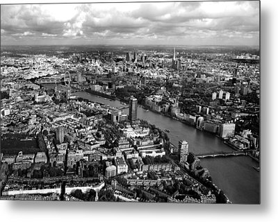 Aerial View Of London Metal Print by Mark Rogan