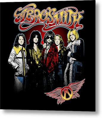 Aerosmith - 1970s Bad Boys Metal Print by Epic Rights