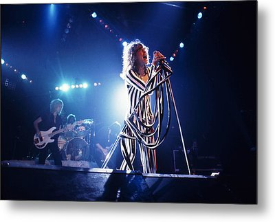 Aerosmith - Pinstripes And Love Bites 1970s Metal Print by Epic Rights
