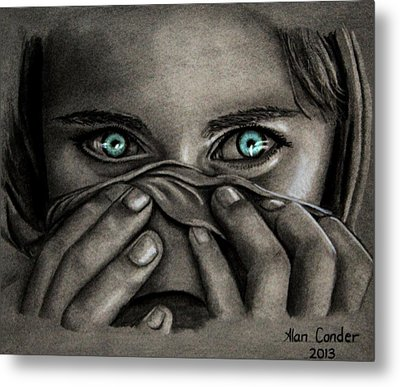 Afghan Girl Metal Print by Alan Conder