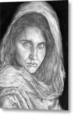 Afghan Girl Metal Print by Avery Wilson