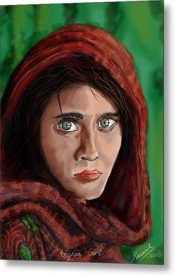 Afghan Girl Metal Print by Sasank Gopinathan