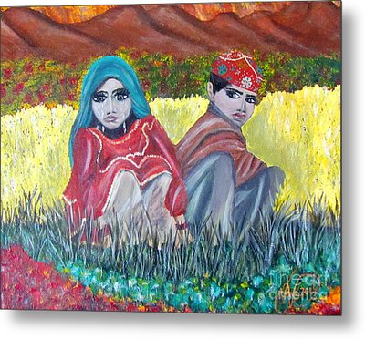 Afghan Kids Metal Print by Veronica V Bahman
