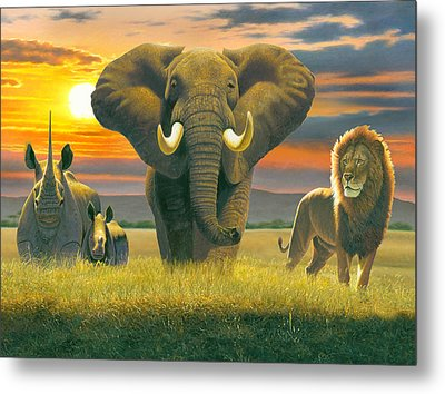 Africa Triptych Variant Metal Print by Chris Heitt