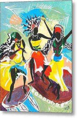 African Dancers No. 4 Metal Print by Elisabeta Hermann