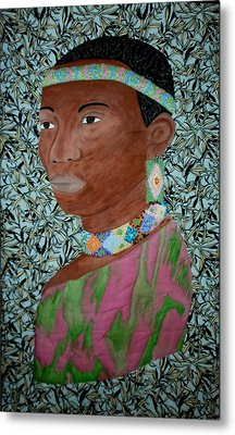 African Queen Metal Print by Linda Egland