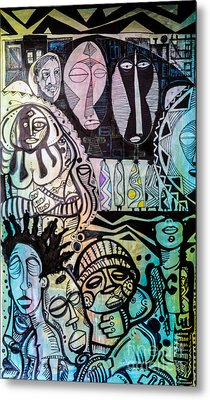 African Village Metal Print by Robert Daniels