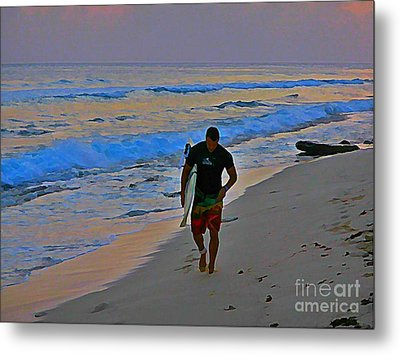 After A Long Day Of Surfing Metal Print by John Malone