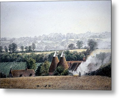 After The Harvest Metal Print by Rosemary Colyer