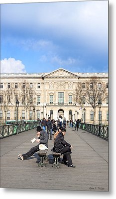 Afternoon On The Pont Des Arts - Parisian Style Metal Print by Mark E Tisdale
