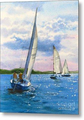 Afternoon Sail Metal Print by Karol Wyckoff