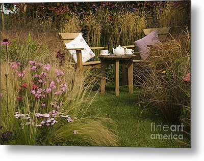 Afternoon Tea Metal Print by Anne Gilbert
