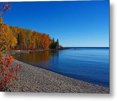 Agate Beach On Lake Superior Metal Print by Steve Anderson