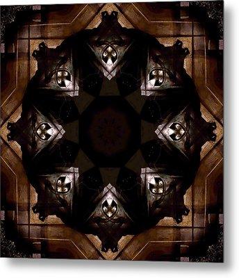 Aged Wood Kaleidoscope Metal Print by Jim Finch
