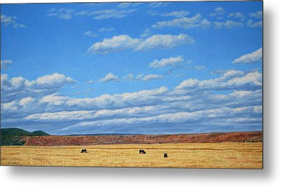 Grazing Metal Print by James W Johnson