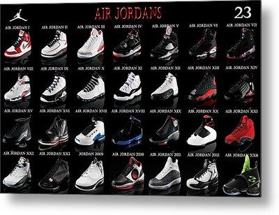 Air Jordan Shoe Gallery Metal Print by Brian Reaves
