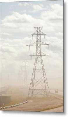 Air Pollution From Tar Sands Plant Metal Print by Ashley Cooper