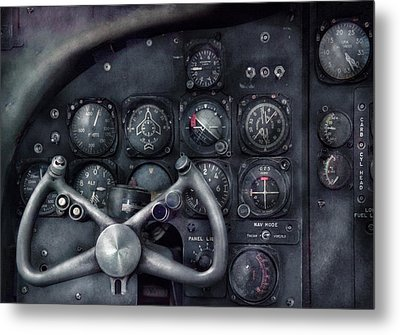 Air - The Cockpit Metal Print by Mike Savad