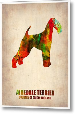Airedale Terrier Poster Metal Print by Naxart Studio