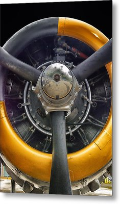 Airplane Engine Metal Print by Thomas Woolworth