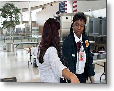 Airport Security Metal Print by Jim West
