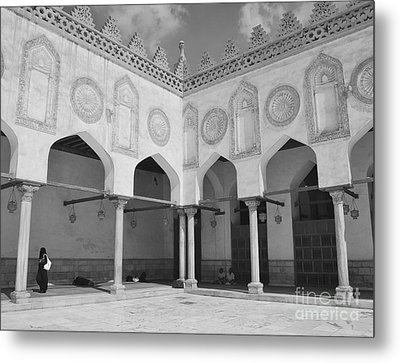 Al Azhar Mosque Cairo Metal Print by Nigel Fletcher-Jones