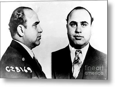 Al Capone Mug Shot Metal Print by Edward Fielding